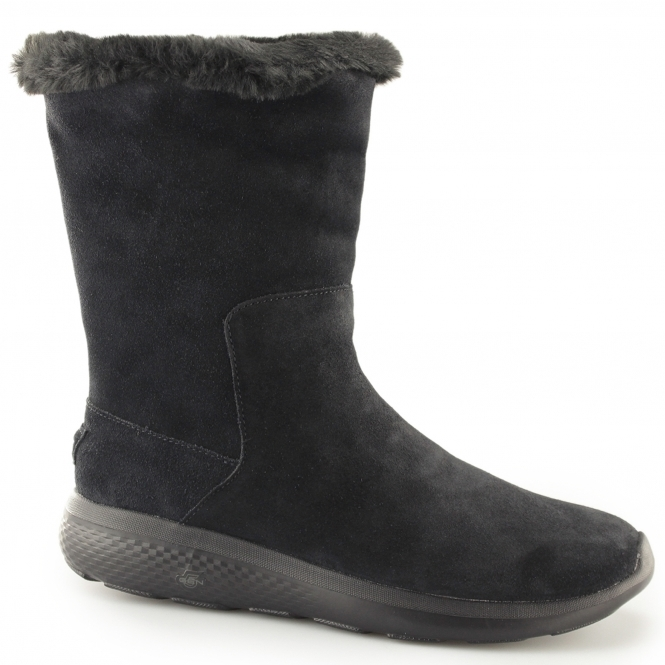 ladies black skechers boots