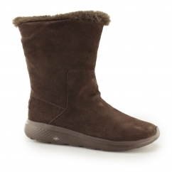 Skechers ON-THE-GO CITY 2 APPEALING Ladies Suede Boots Brown