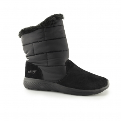 Skechers ON-THE-GO CITY 2 PUFF Ladies Warm Winter Boots Black |Shuperb