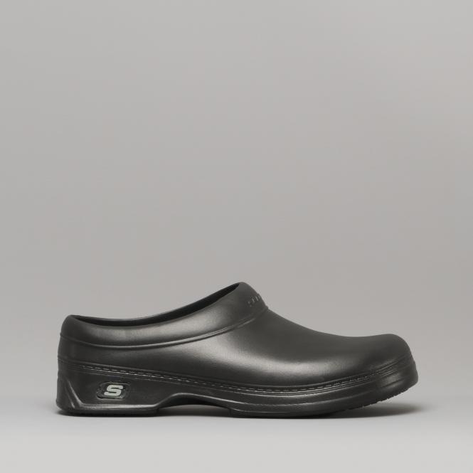 5cdfa418 Skechers OSWALD BALDER Mens Slip Resistant Work Clogs Black   Shuperb