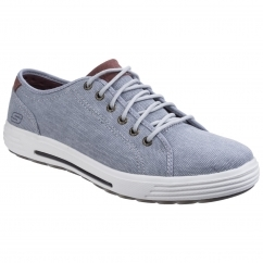 Skechers PORTER METENO Mens Trainers Light Grey | Shuperb