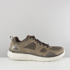 Skechers QUANTUM-FLEX COUNTRY WALKER Mens Relaxed Fit Trainers Brown