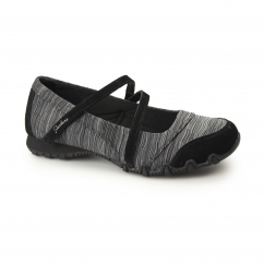 RELAXED FIT: BIKERS-RIPPLES Ladies Slip-On Flats Black