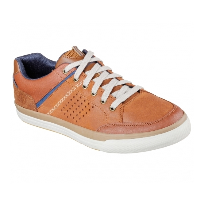 Skechers RELAXED FIT: DIAMONDBACK-RENDOL Mens Trainers Luggage Orange