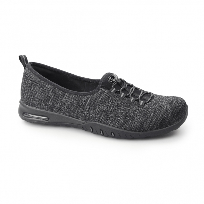 sold worldwide designer fashion cute cheap Skechers RELAXED FIT: EASY AIR-IN MY DREAMS Ladies Shoes Black|Shuperb