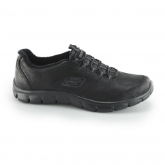 RELAXED FIT: EMPIRE - LATEST NEWS Ladies Faux Fur Trainers Black
