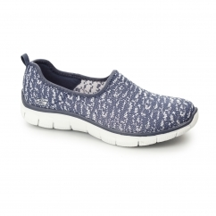 RELAXED FIT: EMPIRE-SWEET SCENE Ladies Slip-On Trainers Navy/White