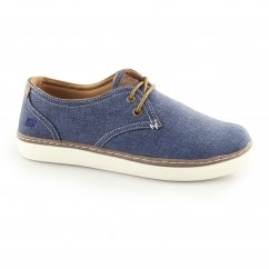 Skechers RELAXED FIT: PALEN-GADON Mens Canvas Shoes Navy