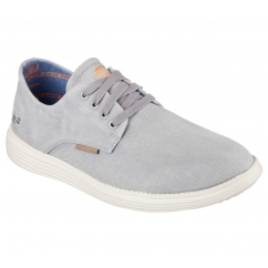 RELAXED FIT: STATUS-BORGES Mens Casual Trainers Light Grey