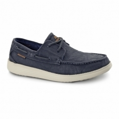 Skechers RELAXED FIT: STATUS-MELIC Mens Boat Shoes Navy
