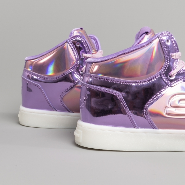 ENERGY LIGHTS S LIGHTS SHINY BRIGHT Girls Light Up USB Trainers Pink//Purple