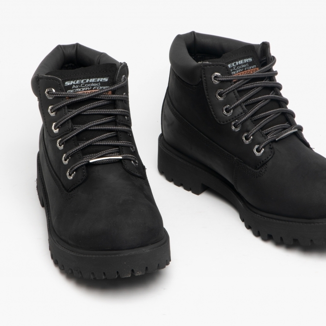 Ligero ir a buscar Preciso  Skechers SERGEANTS VERDICT Mens Nubuck Boots Black | Buy At Shuperb