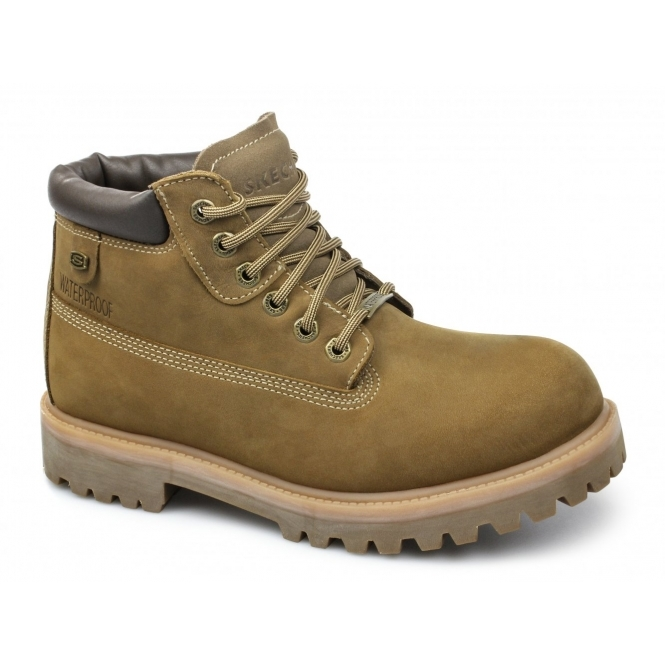 ca0b70f5346f3 Skechers SERGEANTS VERDICT Mens Nubuck Boots Brown | Buy At Shuperb