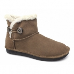 SHELBY OTTAWA Ladies Suede Warm Lined Winter Boots Brown