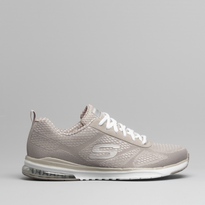 lower price with hot products online shop SKECH AIR INFINITY Ladies Lace Up Trainers Taupe