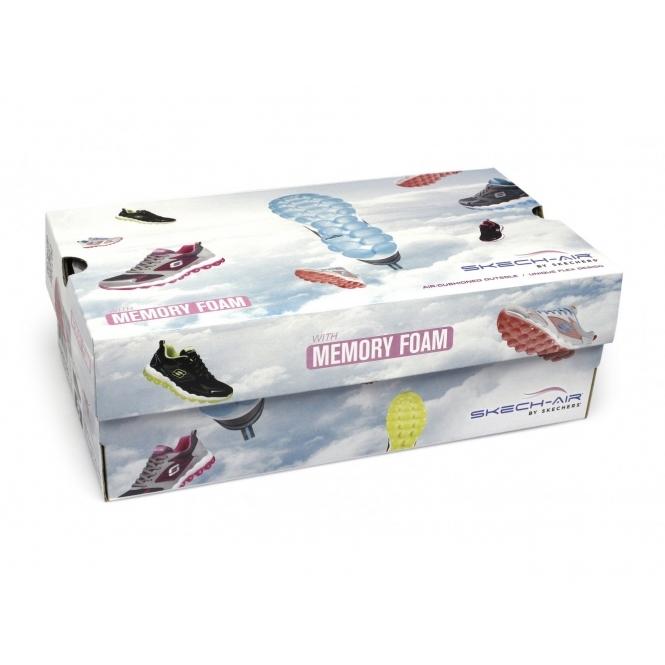 226fb29a4047 Skechers SKECH-AIR INSPIRE Ladies Gym Trainers Gray Aqua