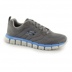 SKECH-FLEX 2.0 MILWEE Mens Sports Trainers Charcoal/Blue