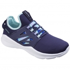 Skechers Sketch Street Squad Prance Childrens Trainers Navy/Aqua
