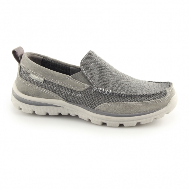 Skechers SUPERIOR MILFORD Mens Loafers Charcoal/Grey