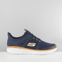 Skechers SYNERGY 2.0 CHEKWA Mens Mesh Trainers Navy