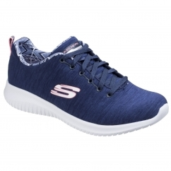 Skechers Ultra Flex First Choice Ladies Trainers Navy