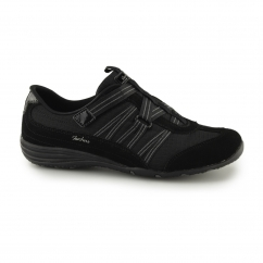 Skechers UNITY EXISTENT Ladies Trainers Black/Charcoal | Shuperb