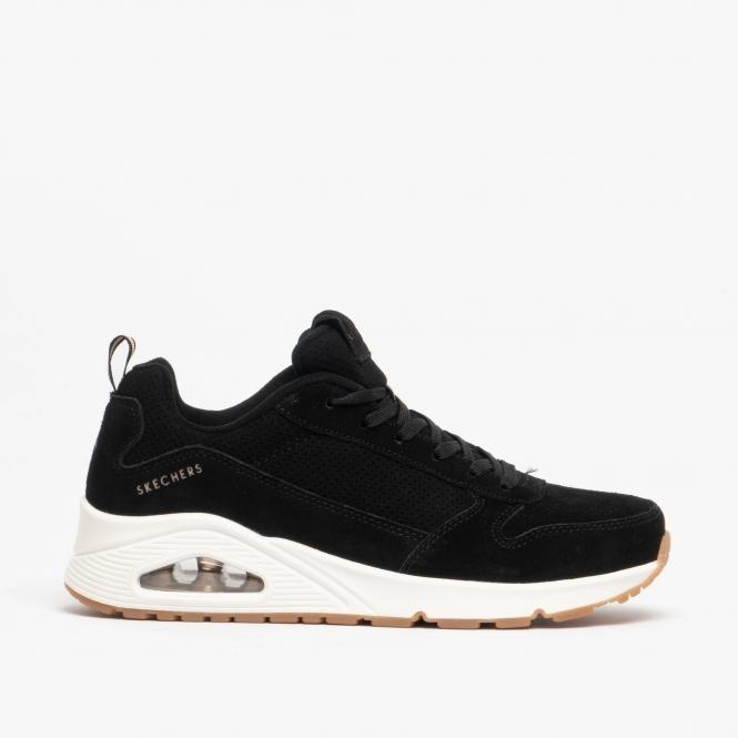 skechers black trainers
