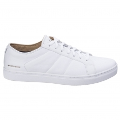 Skechers VENICE Mens Leather Casual Lace Up Trainers White | Shuperb