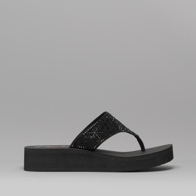 skechers platform flip flops