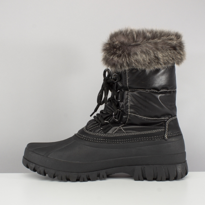 Canguro En cantidad Racional  Skechers WINDOM SNOWY Ladies Mid Calf Winter Boots Black | Shuperb