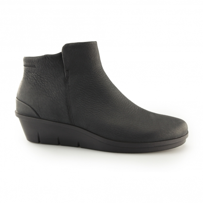 c83e205821 SKYLER Ladies Leather Nubuck Zip Up Boots Black