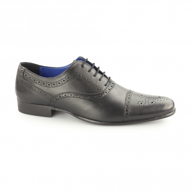 Red Tape SLADE Mens Leather Oxford Brogues Black