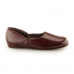 ABRAHAM Mens Full Slippers Burgundy