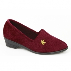 ANDOVER Ladies Full Slippers Burgundy
