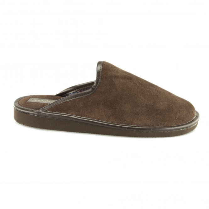 Sleepers DERMOT Mens Mule Slippers Brown