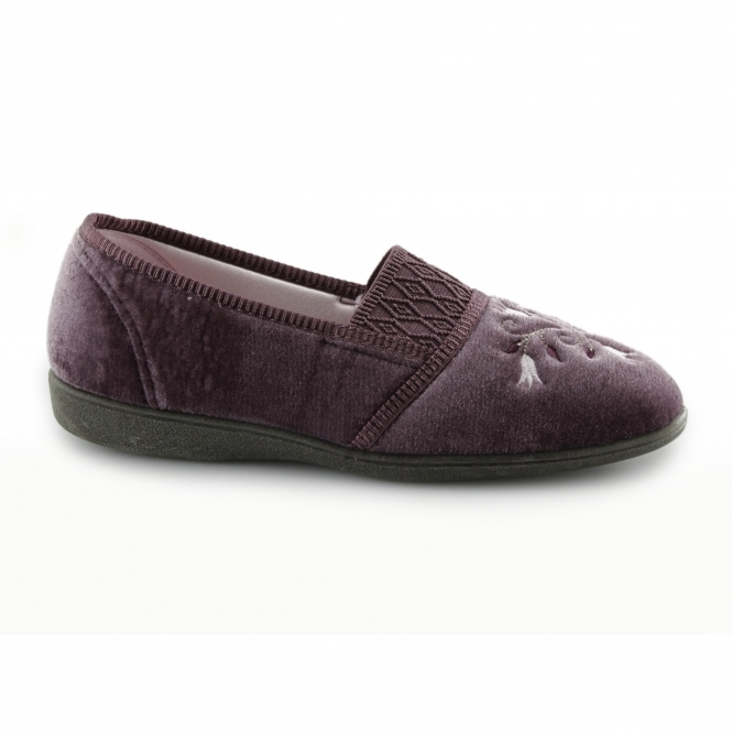 778bf122194a3d Sleepers INEZ Womens Floral Velour Slippers Heather