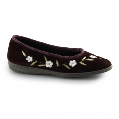 MONICA Ladies Full Slippers Plum