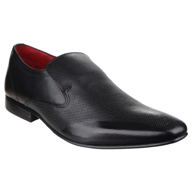 Base London SLEEVE Mens Leather Slip-on Loafers Black