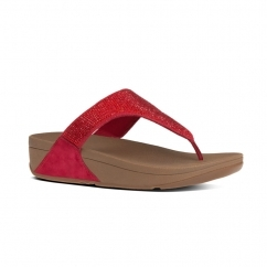 SLINKY ROKKIT™ Ladies Leather Toe Post Sandals Poppy Red