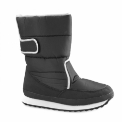 SLOPES Ladies Warm Lined Touch Fasten Winter Boots Black