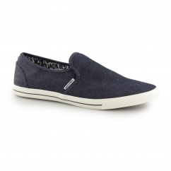 SNAKE Mens Canvas Trainers Denim