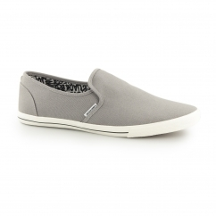 SNAKE Mens Canvas Trainers Frost Grey