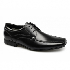 SNOWDEN Mens Leather Lace-Up Shoes Black