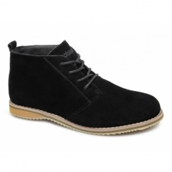 SNOWHILL Unisex Suede Comfy Desert Boots Black