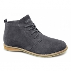 SNOWHILL Unisex Suede Comfy Desert Boots Grey