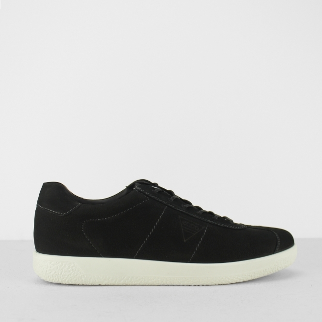 dae23f464f SOFT 1 Mens Leather Lace Up Comfort Trainers Black Nubuck