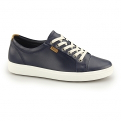 SOFT 7 Ladies Leather Lace Up Casual Trainers Marine