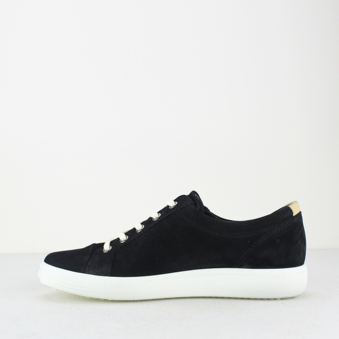 best service 26e11 73105 SOFT 7 Ladies Leather Zip Casual Trainers Black