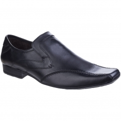 SPHERE EXCEL Mens Leather Slip On Loafers Shoes Black