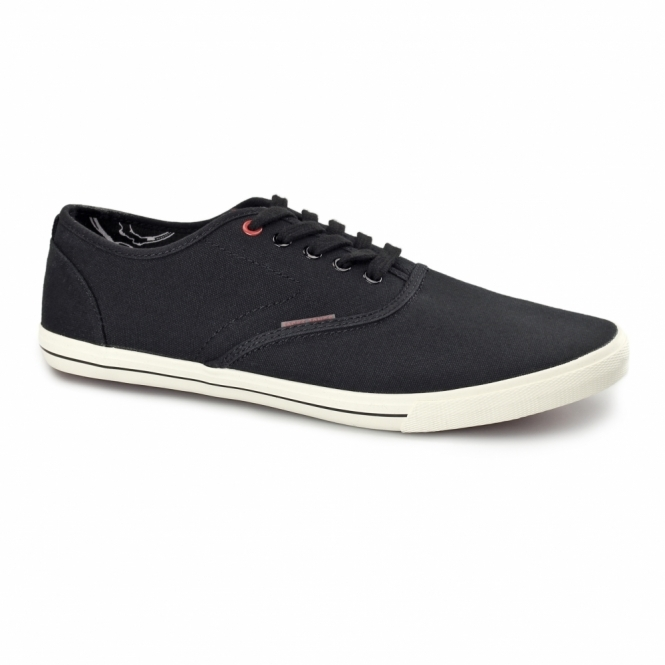 Jack & Jones SPIDER Mens Canvas Trainers Anthracite Black